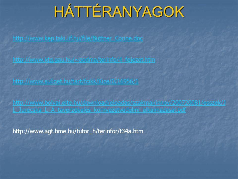 HÁTTÉRANYAGOK http://www.kep.taki.iif.hu/file/Buttner_Corine.doc