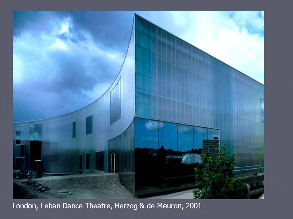 London, Leban Dance Theatre, Herzog & de Meuron, 2001