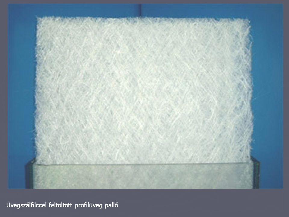 Üvegszálfilccel feltöltött profilüveg palló
