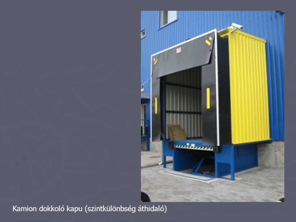 Kamion dokkoló kapu (szintkülönbség áthidaló)