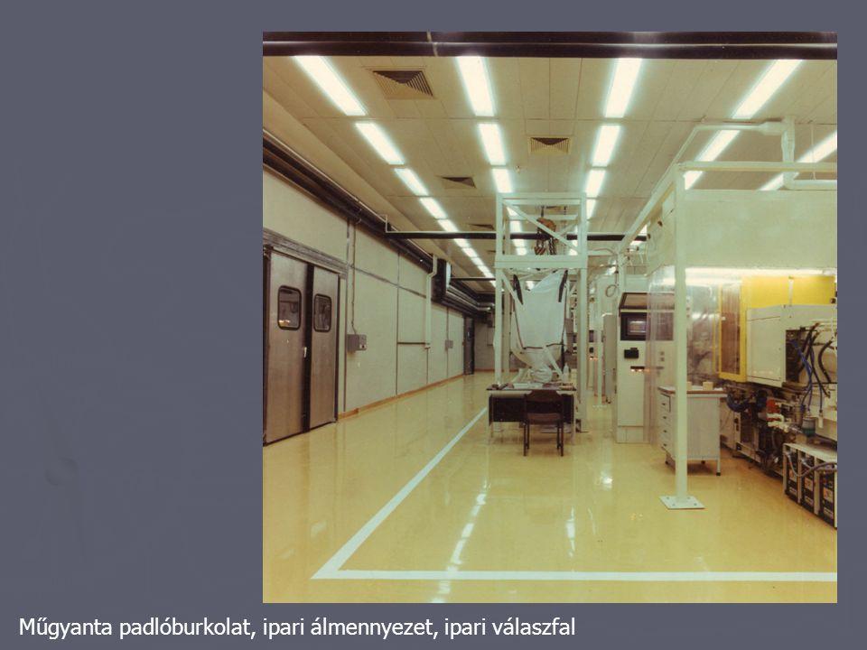 Műgyanta padlóburkolat, ipari álmennyezet, ipari válaszfal