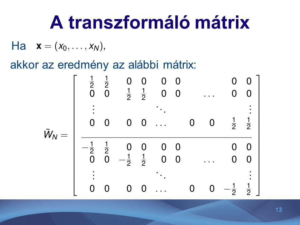 A transzformáló mátrix