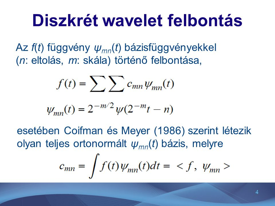 Diszkrét wavelet felbontás