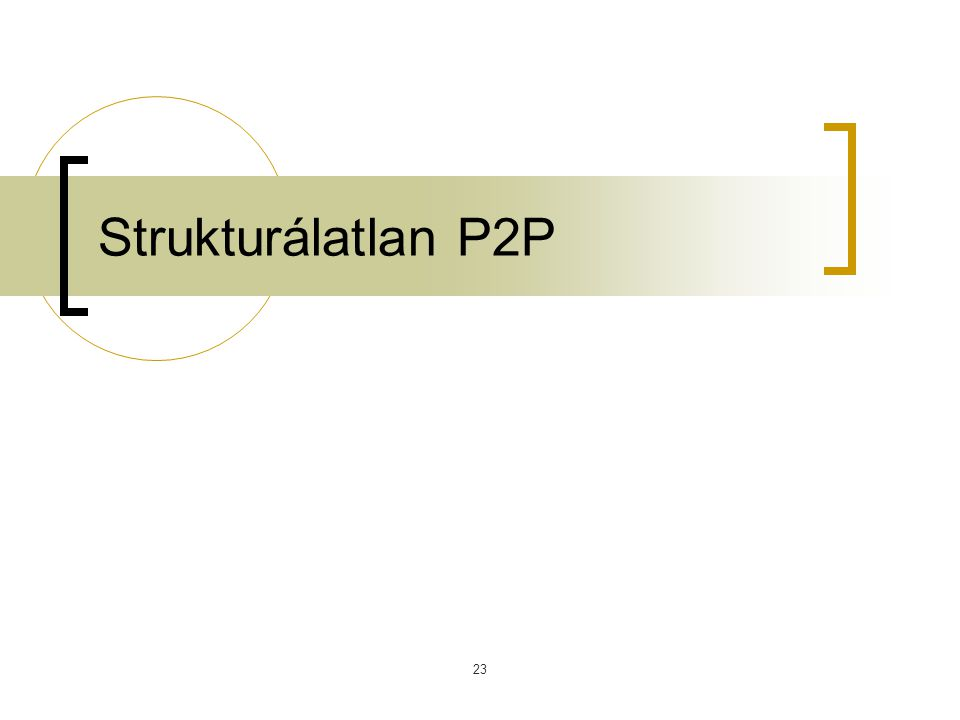 Strukturálatlan P2P 23