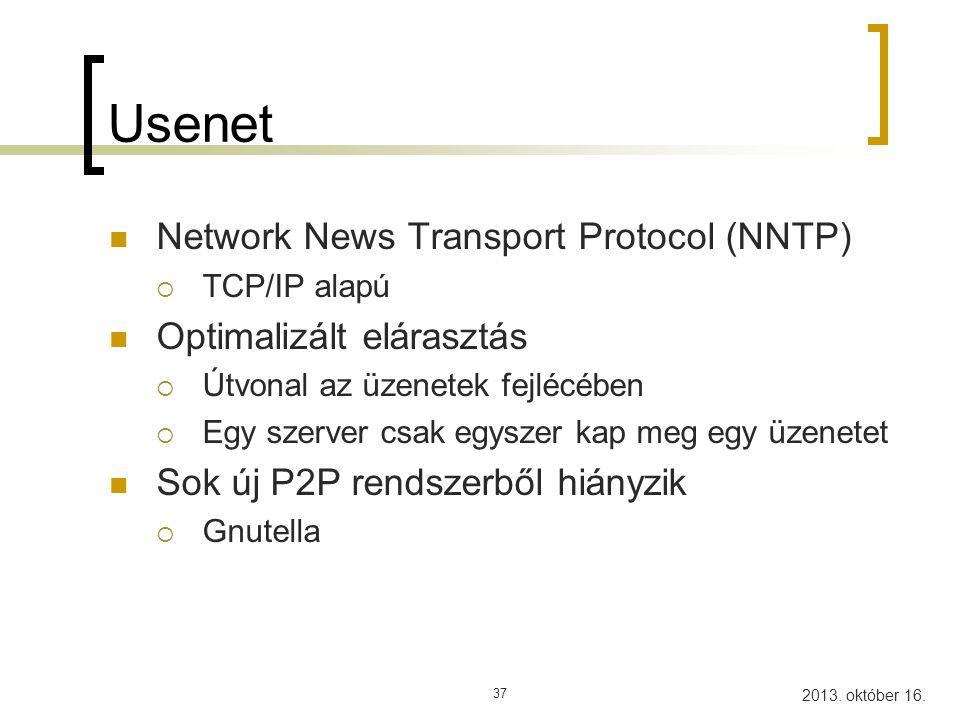 Usenet Network News Transport Protocol (NNTP) Optimalizált elárasztás