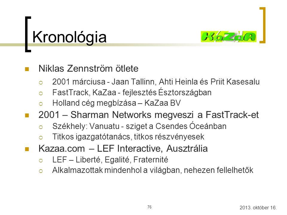 Kronológia Niklas Zennström ötlete
