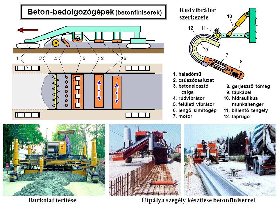 Beton-bedolgozógépek (betonfiniserek)