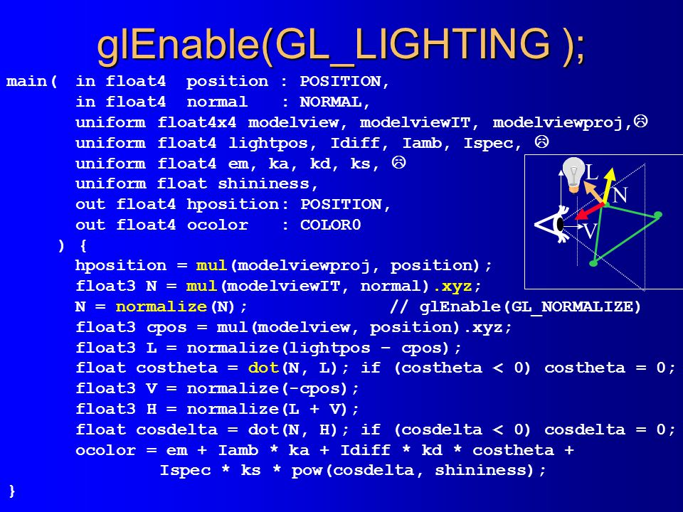 glEnable(GL_LIGHTING );