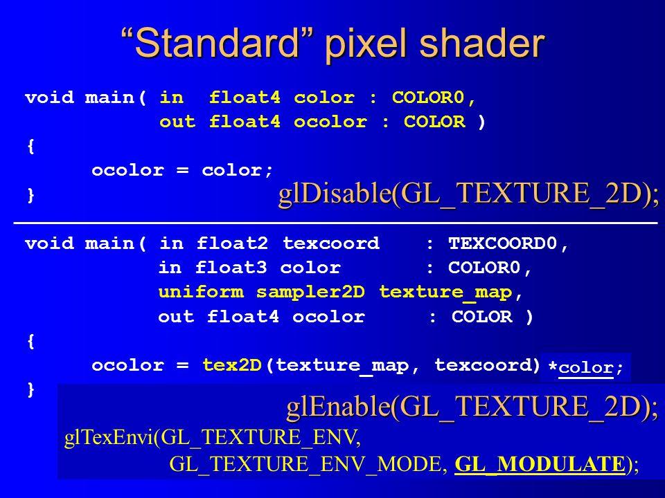 Standard pixel shader