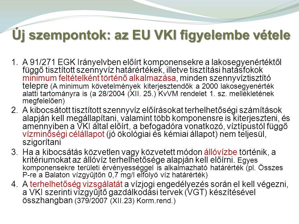 Új szempontok: az EU VKI figyelembe vétele