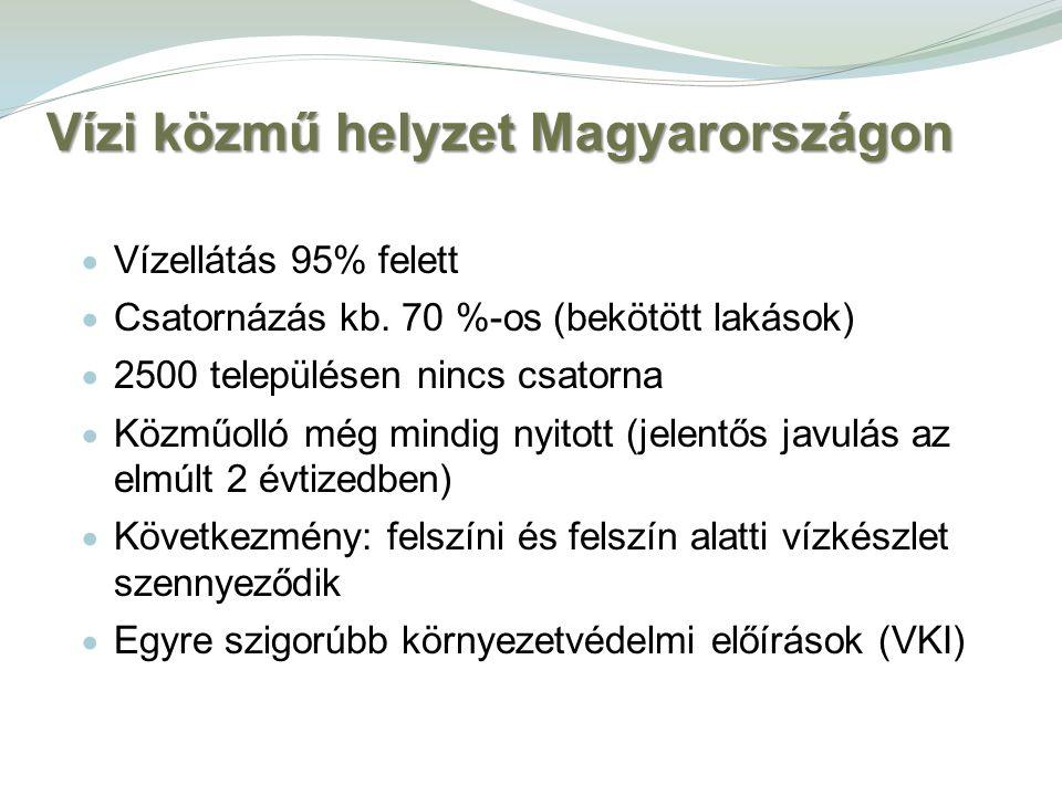 Vízi közmű helyzet Magyarországon