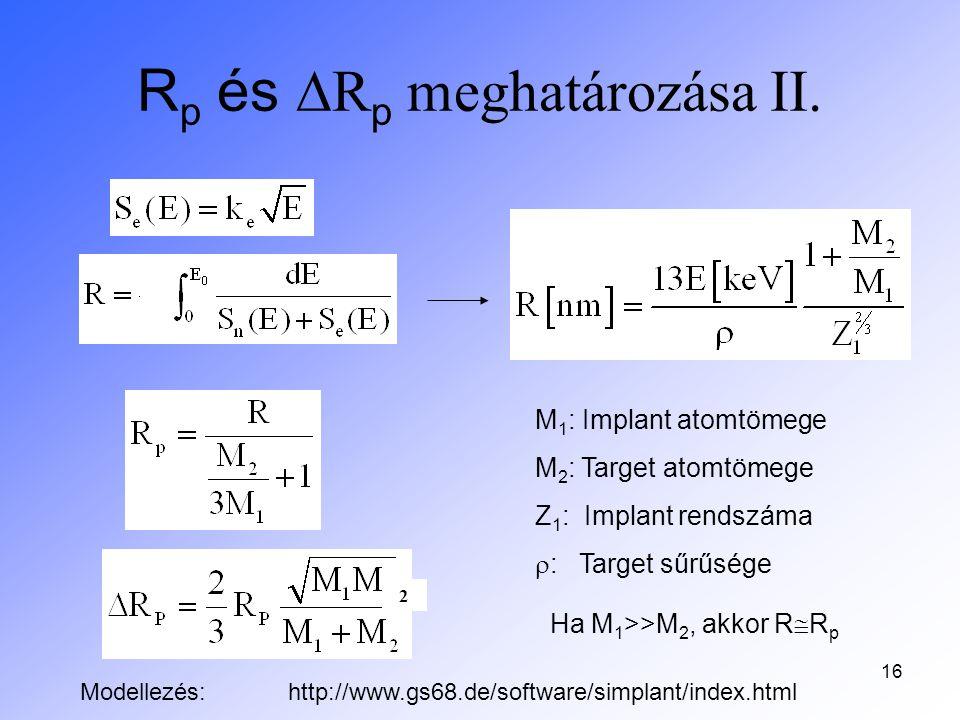 Rp és DRp meghatározása II.