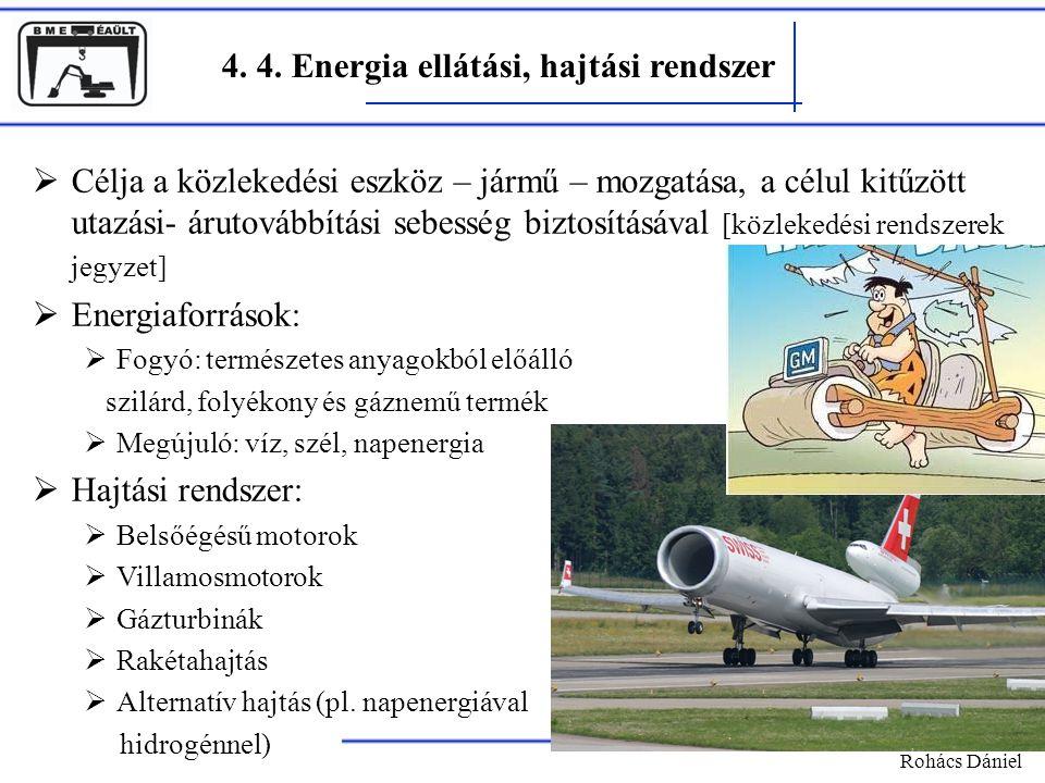 4. 4. Energia ellátási, hajtási rendszer