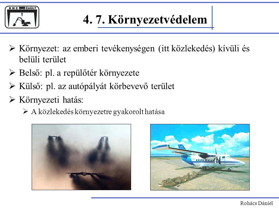 4. 7. Környezetvédelem Környezet: az emberi tevékenységen (itt közlekedés) kívüli és belüli terület.