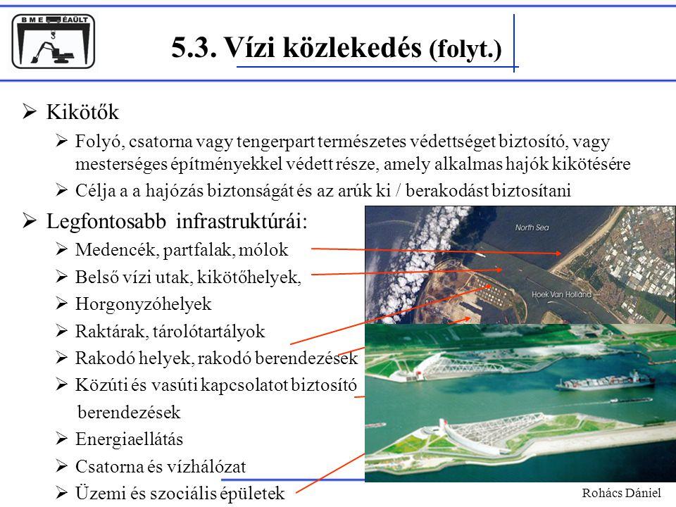 5.3. Vízi közlekedés (folyt.)