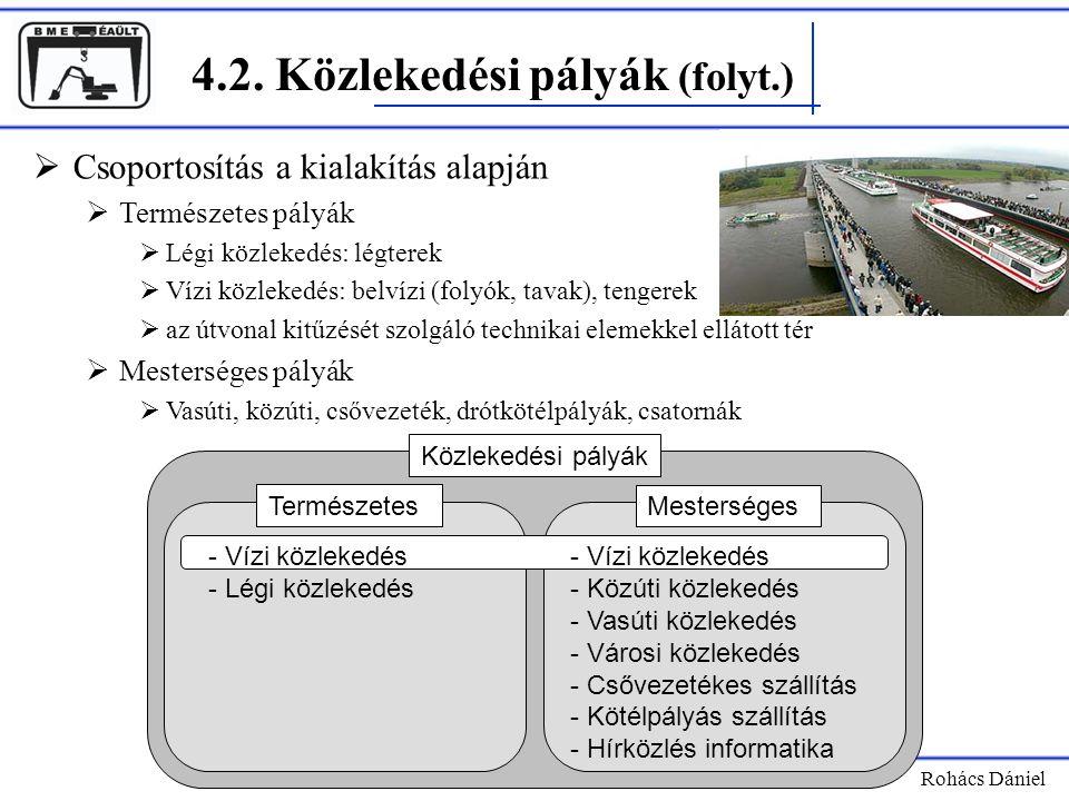 4.2. Közlekedési pályák (folyt.)