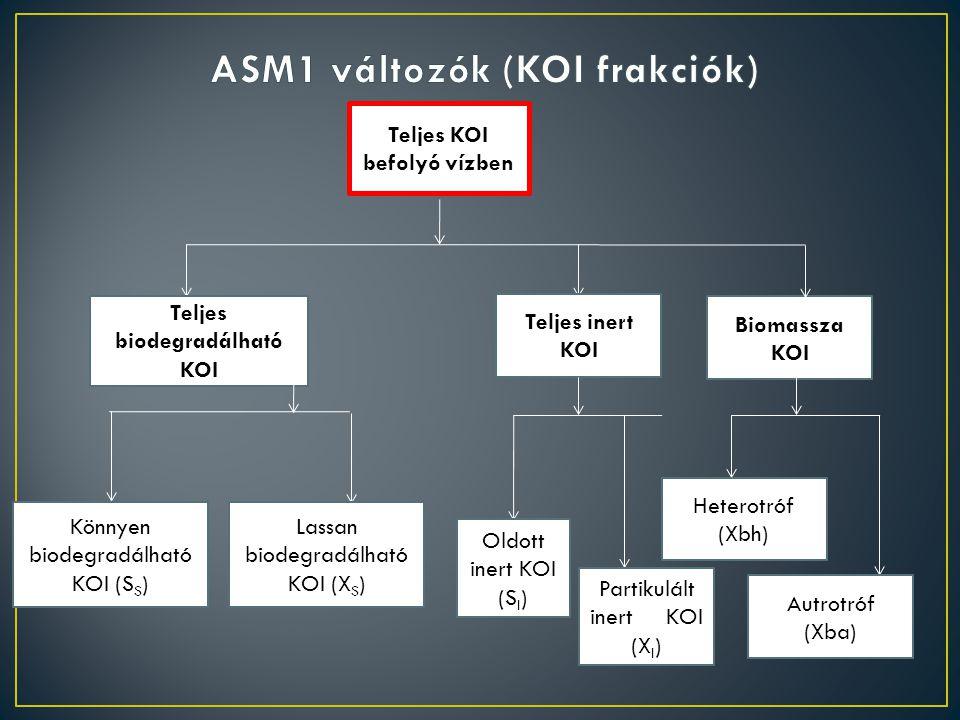 ASM1 változók (KOI frakciók)