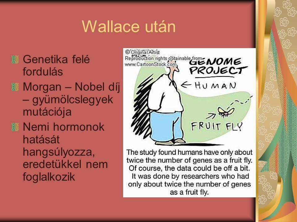 Wallace után Genetika felé fordulás