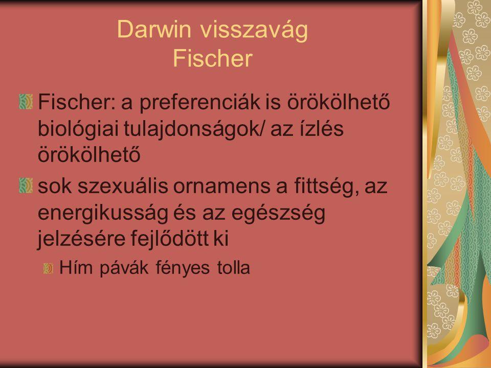 Darwin visszavág Fischer