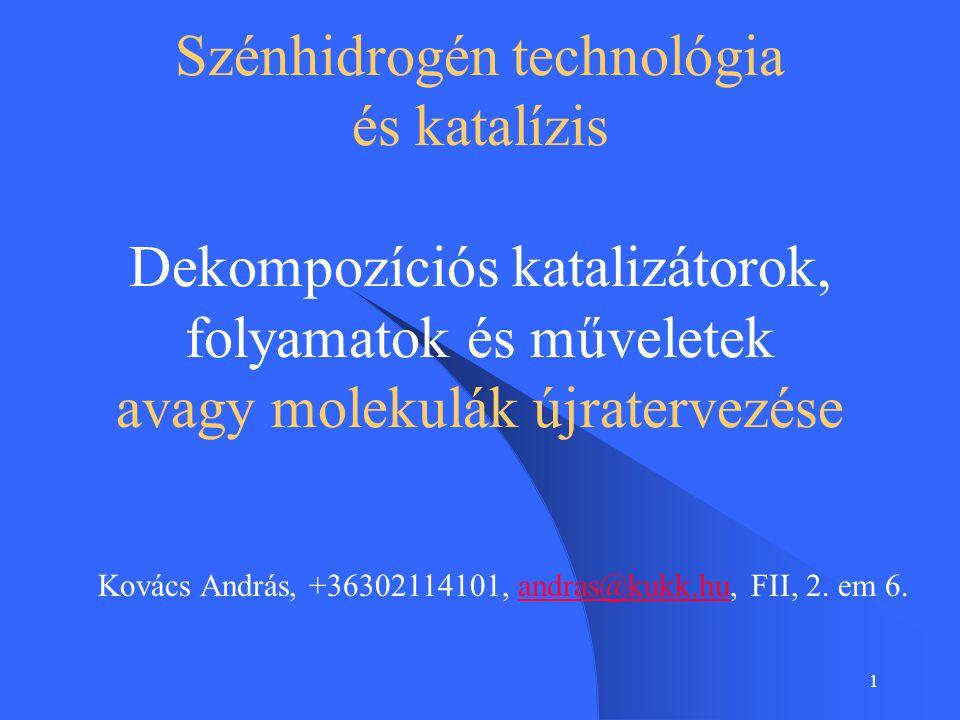 Szénhidrogén technológia és katalízis