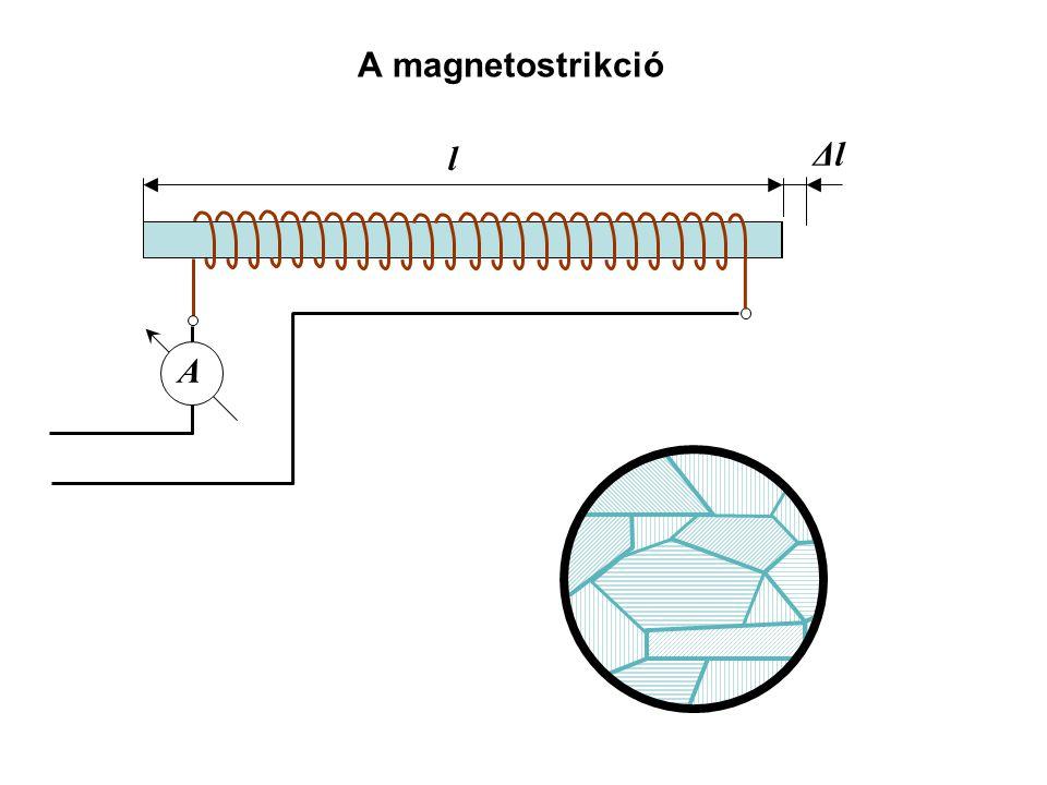 A magnetostrikció l Δl A