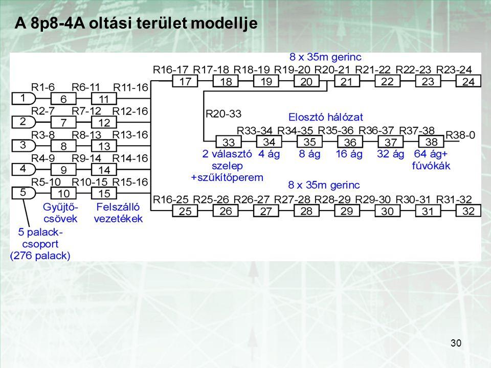 A 8p8-4A oltási terület modellje