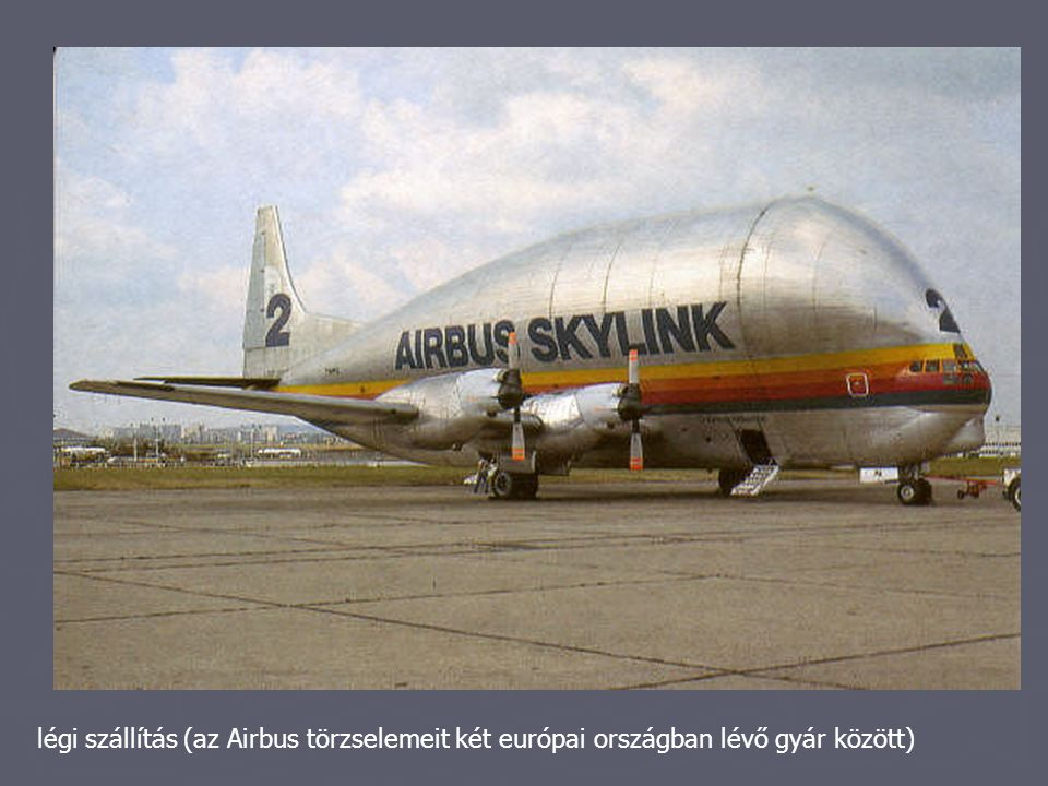 légi szállítás (az Airbus törzselemeit két európai országban lévő gyár között)