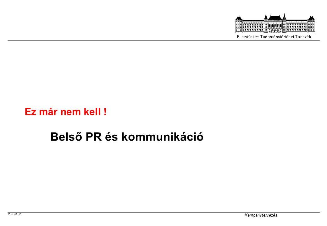 Belső PR és kommunikáció