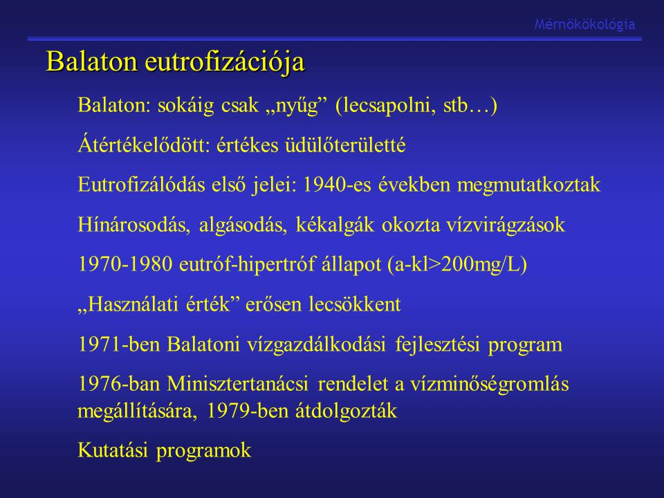 Balaton eutrofizációja
