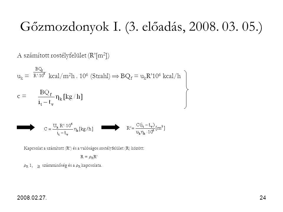 Gőzmozdonyok I. (3. előadás, 2008. 03. 05.)