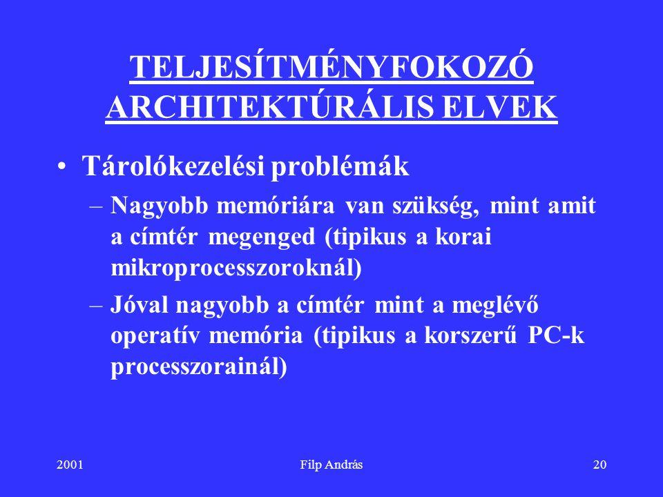 TELJESÍTMÉNYFOKOZÓ ARCHITEKTÚRÁLIS ELVEK