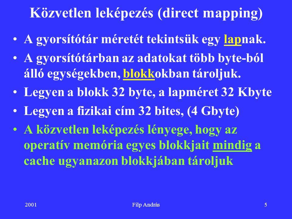 Közvetlen leképezés (direct mapping)