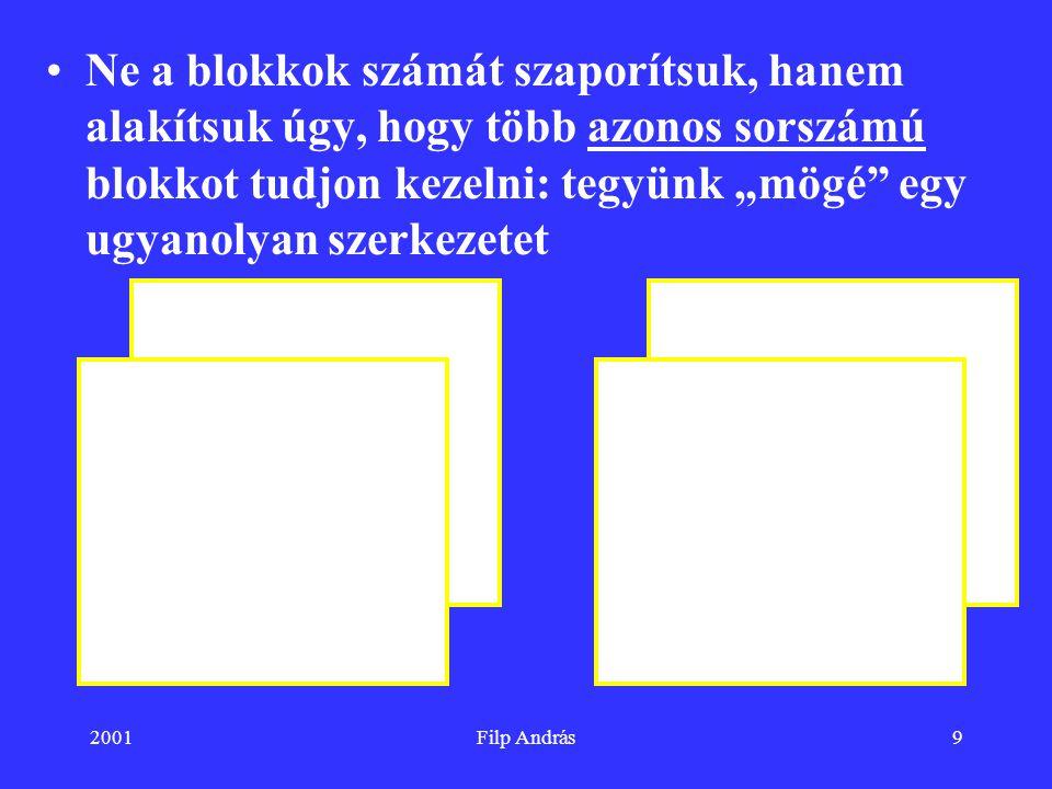 """Ne a blokkok számát szaporítsuk, hanem alakítsuk úgy, hogy több azonos sorszámú blokkot tudjon kezelni: tegyünk """"mögé egy ugyanolyan szerkezetet"""