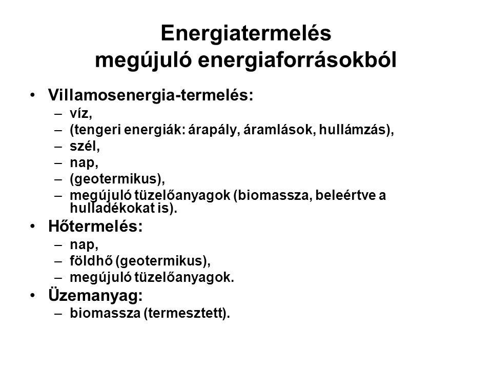 Energiatermelés megújuló energiaforrásokból