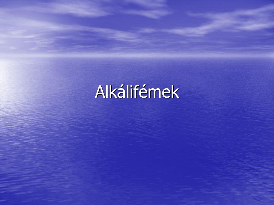 Alkálifémek