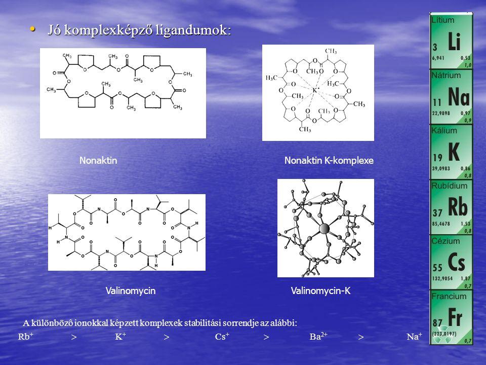 Jó komplexképző ligandumok: