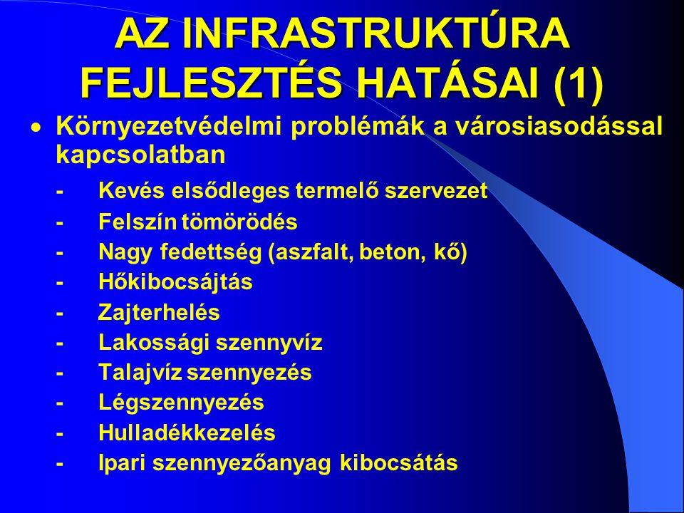 AZ INFRASTRUKTÚRA FEJLESZTÉS HATÁSAI (1)