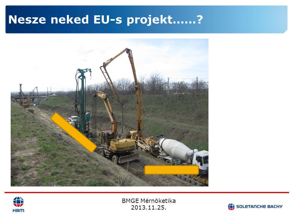 Nesze neked EU-s projekt……