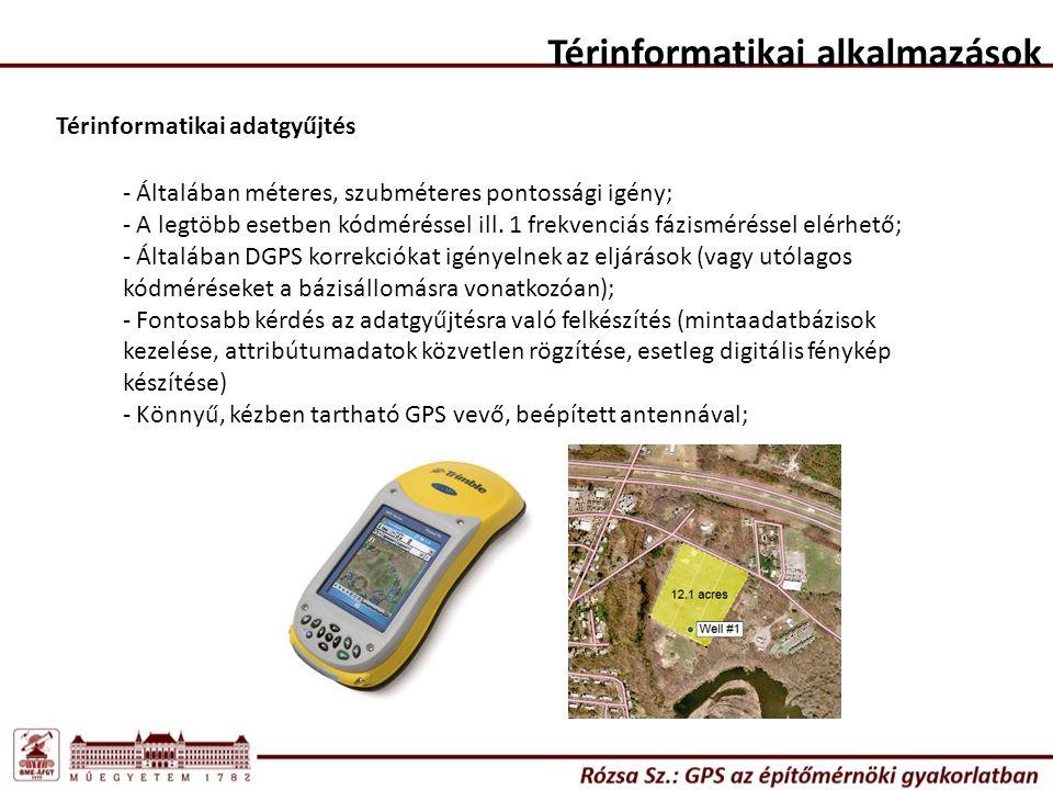 Térinformatikai alkalmazások