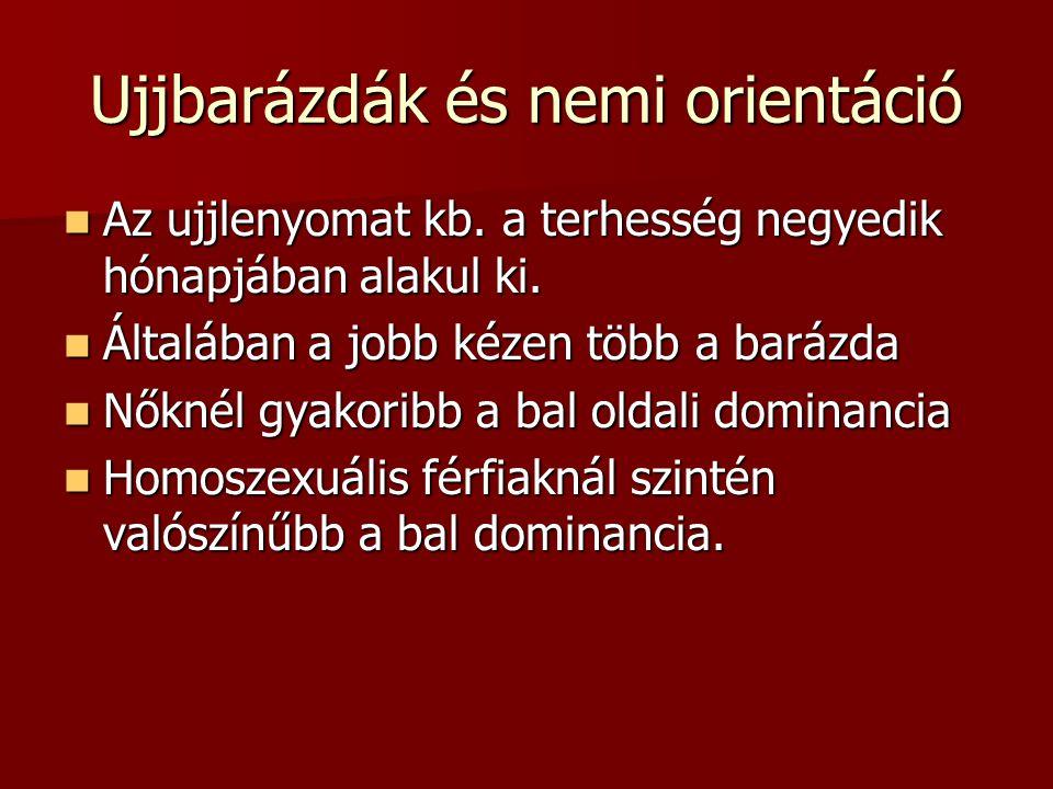 Ujjbarázdák és nemi orientáció