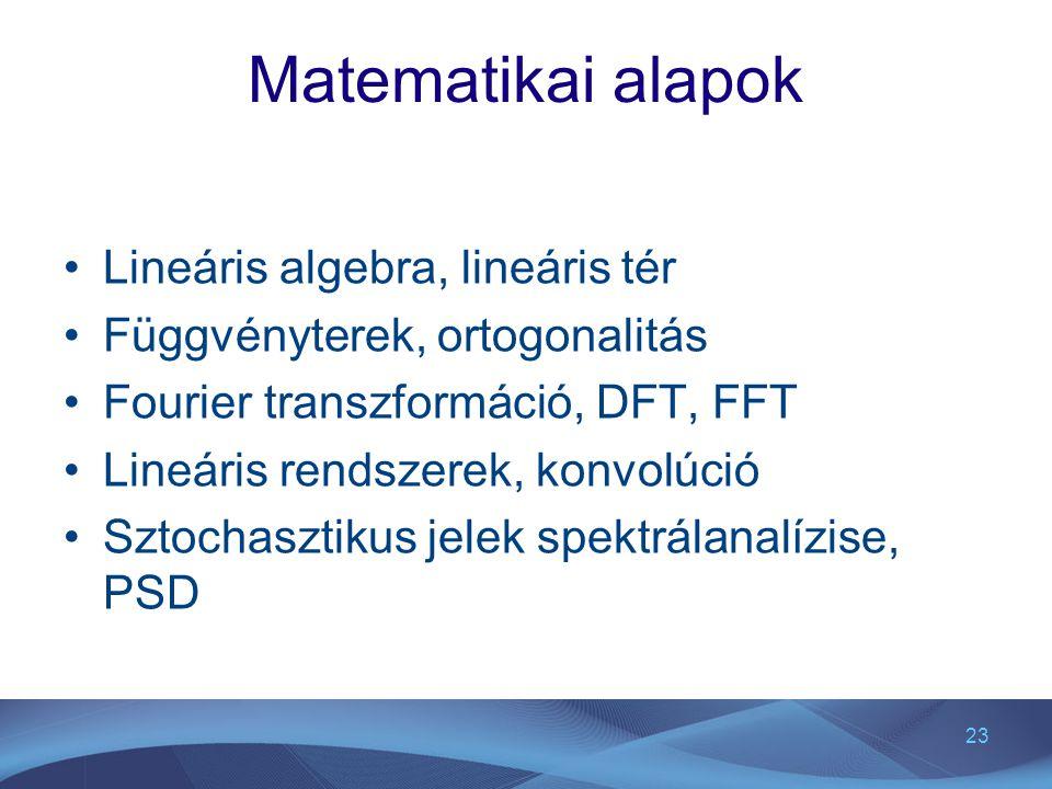 Matematikai alapok Lineáris algebra, lineáris tér