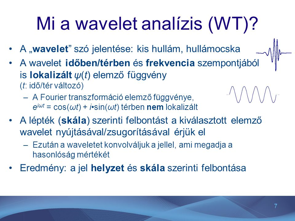 Mi a wavelet analízis (WT)