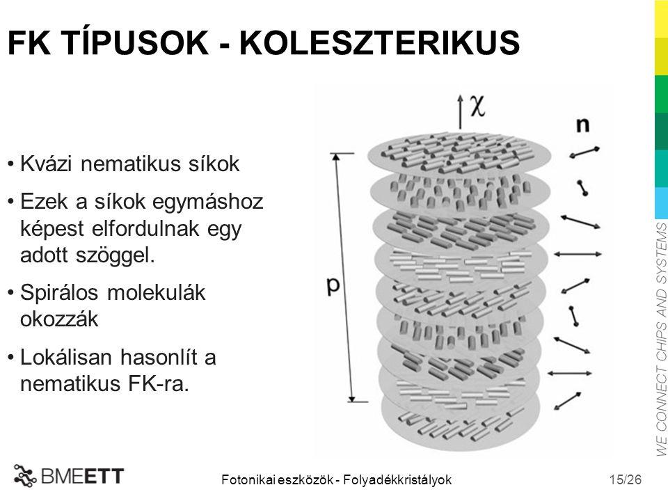 FK TÍPUSOK - KOLESZTERIKUS