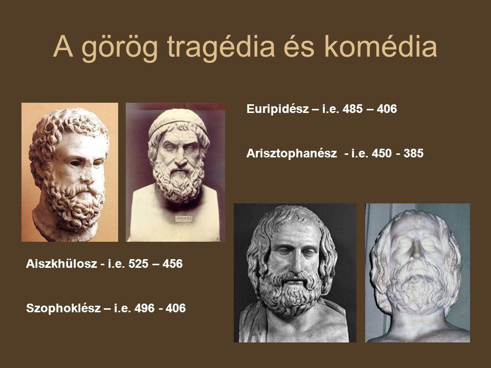 A görög tragédia és komédia