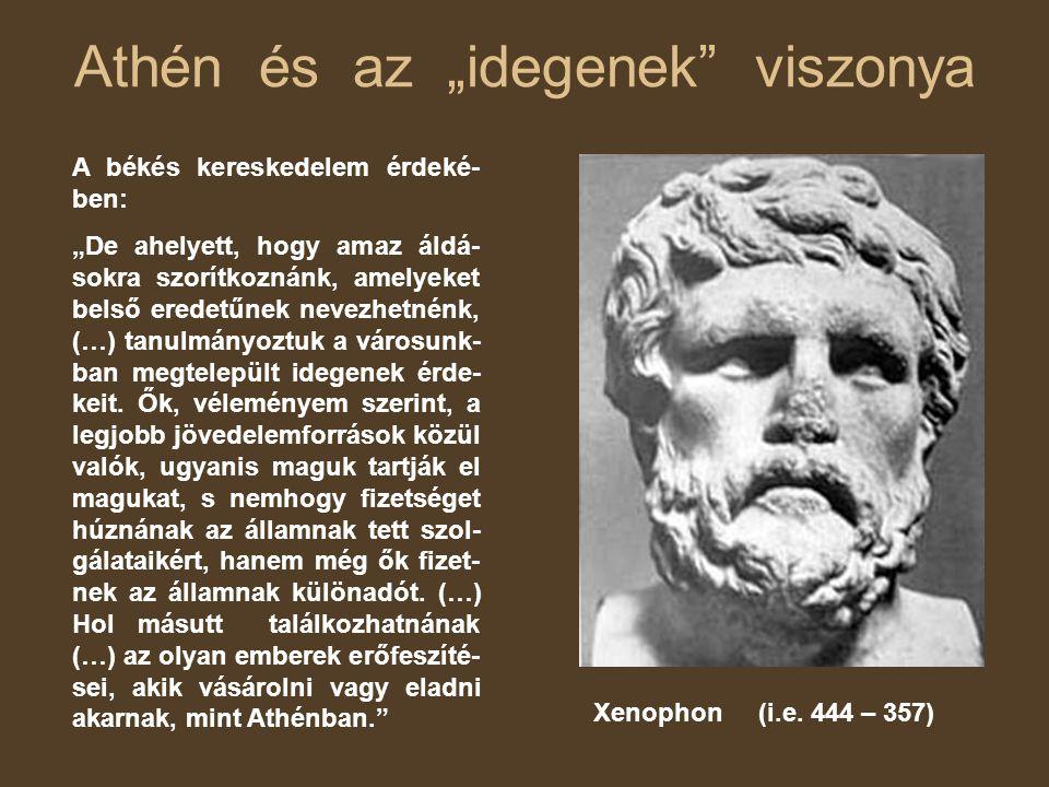 """Athén és az """"idegenek viszonya"""