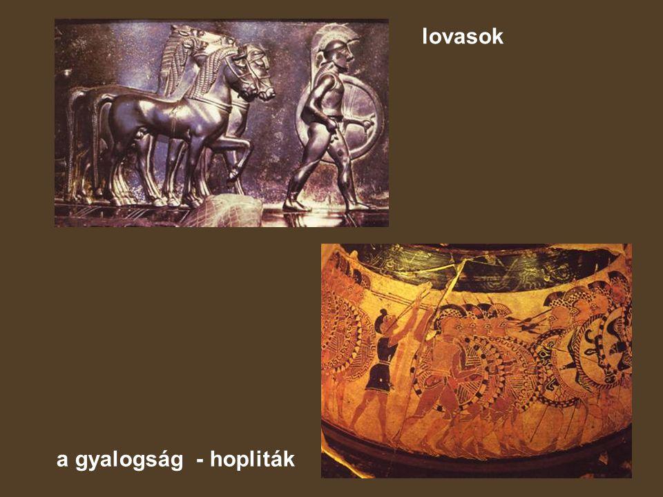 lovasok a gyalogság - hopliták