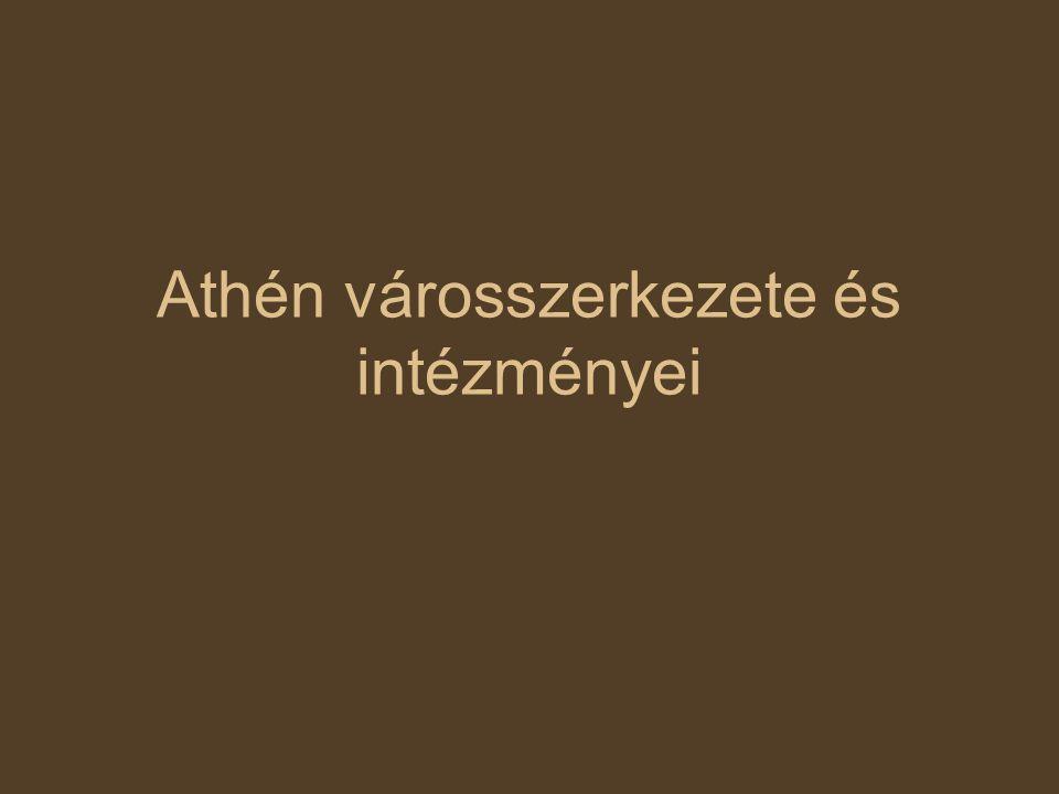 Athén városszerkezete és intézményei