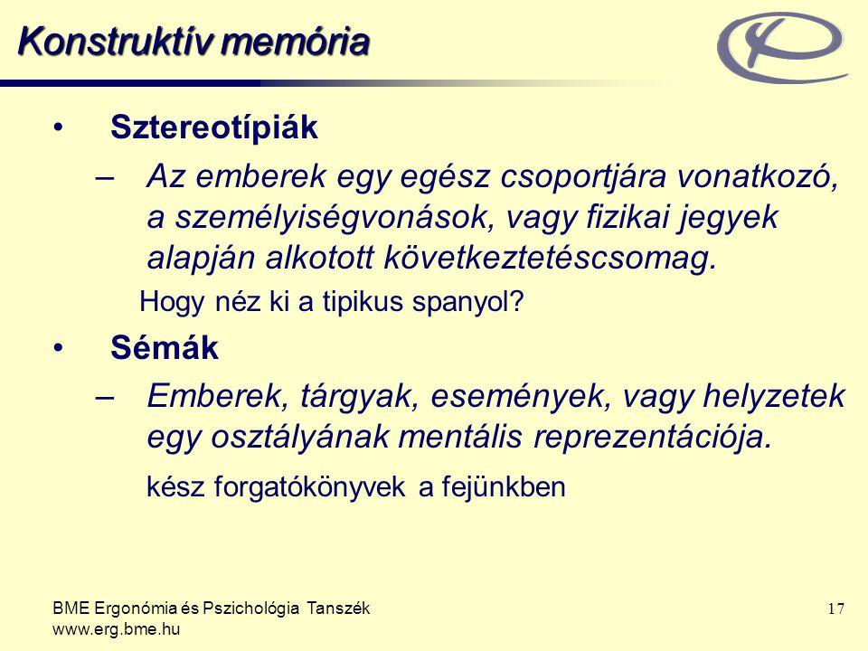 Konstruktív memória Sztereotípiák