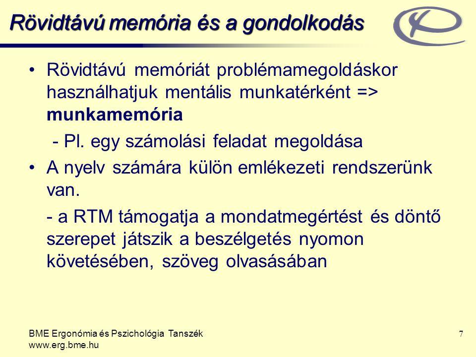 Rövidtávú memória és a gondolkodás