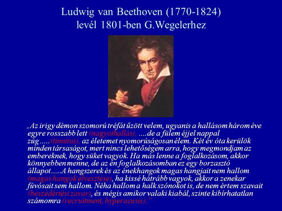 Ludwig van Beethoven (1770-1824) levél 1801-ben G.Wegelerhez